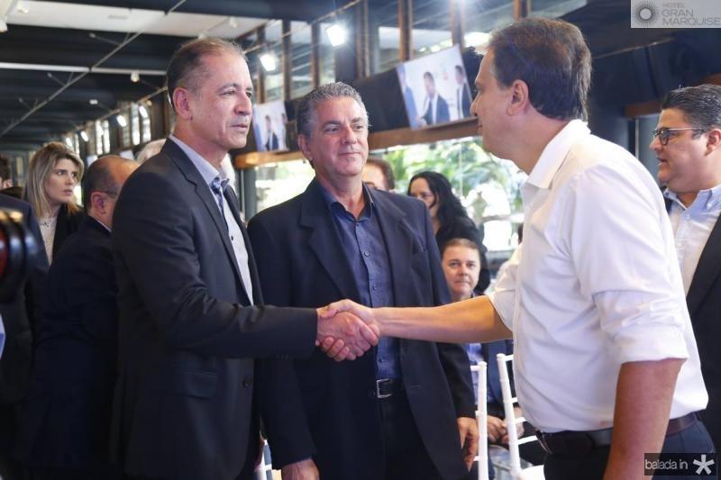 Regis Medeiros, Ricardo Sales e Camilo Santana