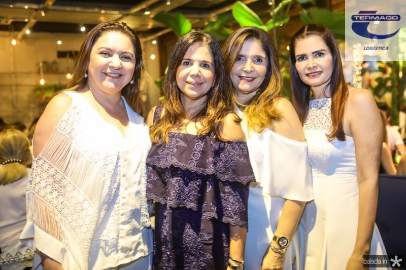Lili Cialdini, Maria Lucia Negrao, Cris Figueiredo e Lorena Pouchain