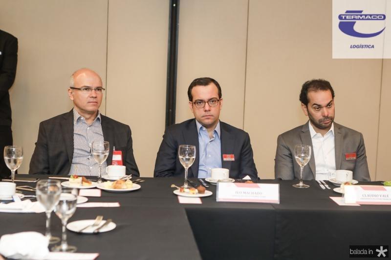 Yuri Colares, Ivo Machado e Claudio Vale