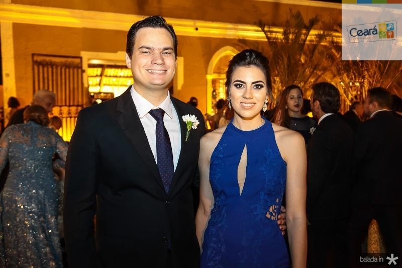 Rafael Gazineu e Luma Fontenele