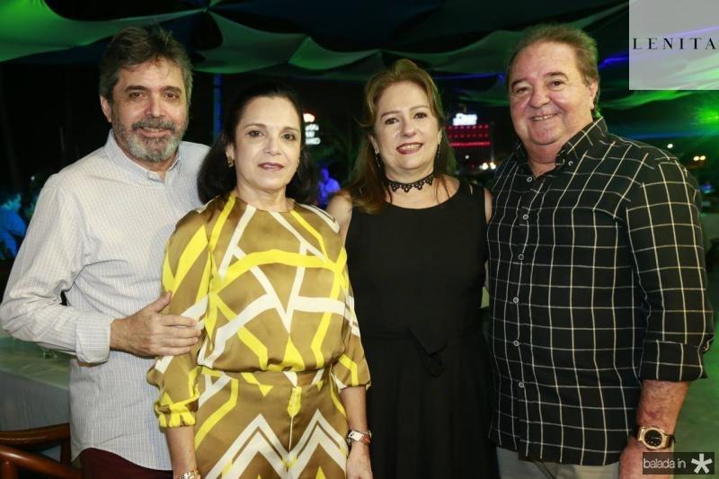Totonho e Elusa Laprovitera, Cristina e Chiquinho Aragao
