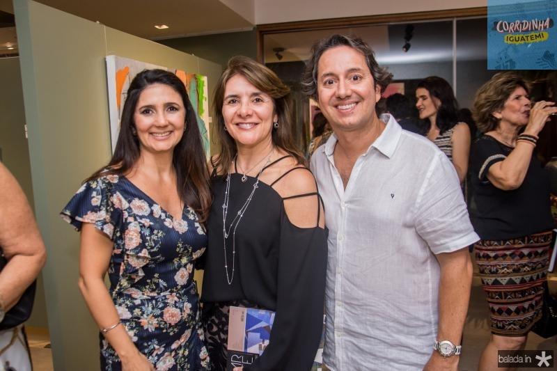Luciana Cidrao, Tania Vasconcelos e Rodrigo Parente
