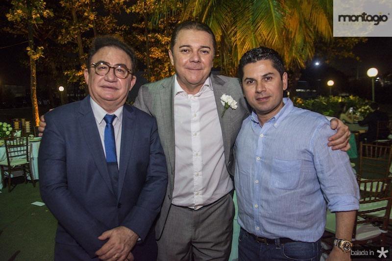Manoel Linhares, Eliseu Barros e Pompeu Vasconcelos