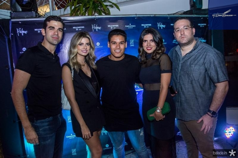 Flavio Gil, Graziele Albuquerque, Felipe Torres, Ticiana Sampaio e Maciel Neto