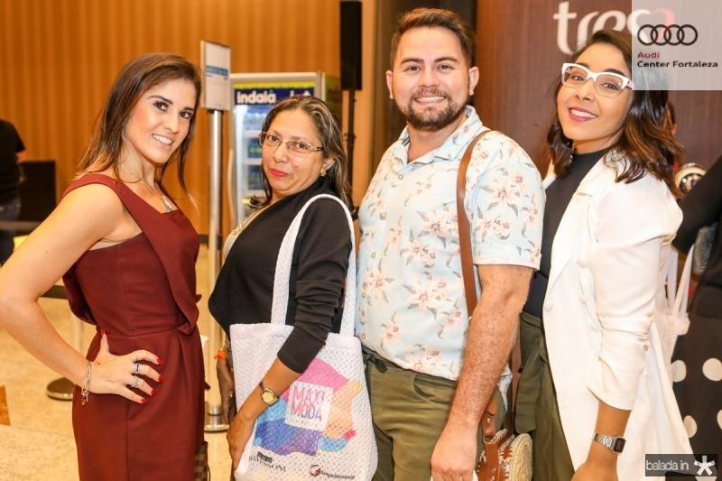 Debora Sombra, Damiana Gomes, Michel Lavour e Caroline Andrade