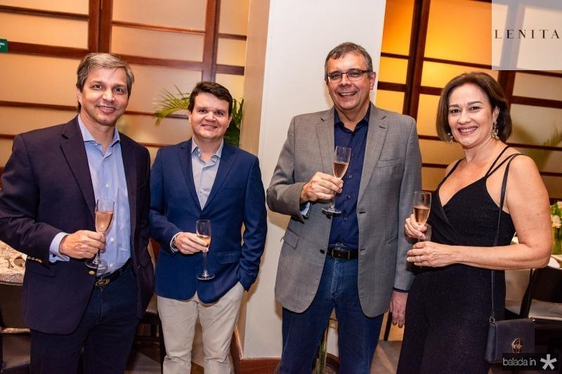 Romulo Alexandre, Gustavo Costa, Luis Augusto Sobral e Cristina Sobral