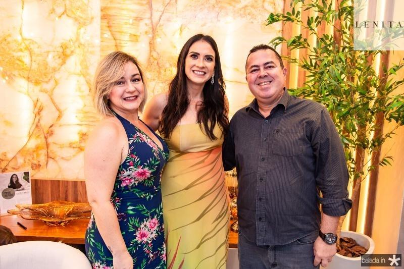Juliana Emidio, Luciana Carioca e Marcelo Sobreira