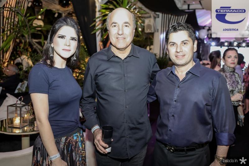 Marilia Vasconcelos, Silvio Frota e Pompeu Vasconcelos