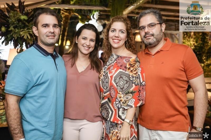 Abelardo e Viviane Rocha, Ticiana e Edson Queiroz Neto