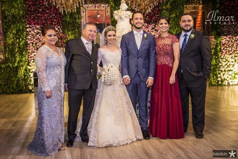 Meire Alves, Alexandre Alves, Diandra Alves, Roberto Cabral, Alexandra Alves e Pedro Lira
