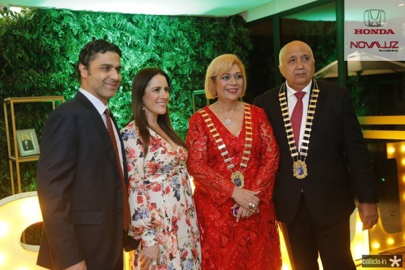 Bernardo e Graziela Veloso, Priscila Cavalcante e Epitacio Vasconcelos