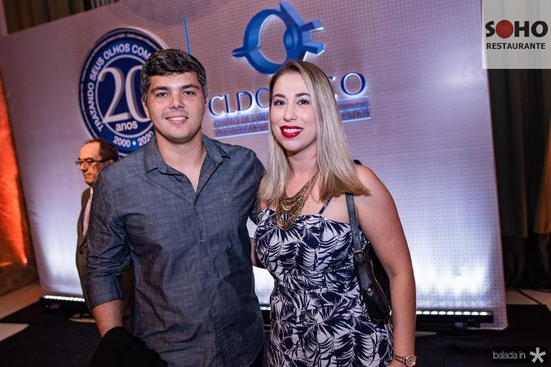 Vitor Palhano e Samira Aguiar