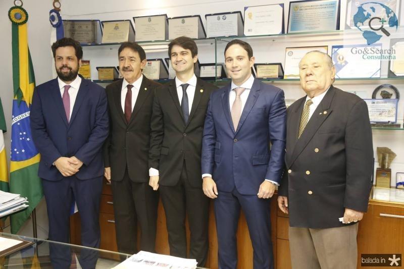 Cassio Pacheco, Raimundo e Pedro Gomes de Matos, Thiago Asfor e Idalmir Feitosa