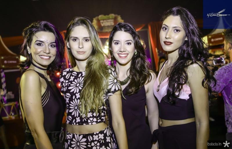 Joyce Malkomes, Luana Furtado, Beatrice Lira e Aline Neris