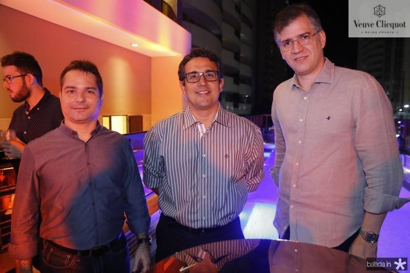Filipe Ferreira, Samuel Albuquerque e Augusto Vidal