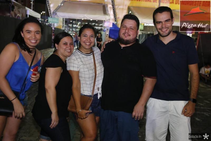 Nicole Monteiro, Ana Farias, Priscila Lins, Icaro Anderson e Aloisio Angelin