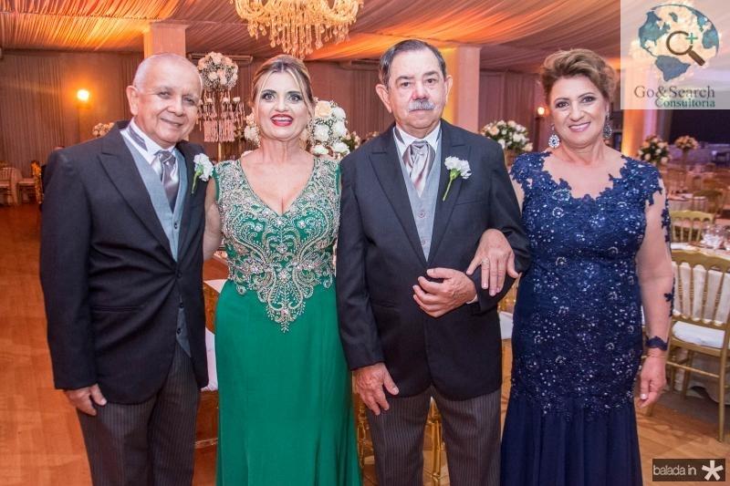 Hercilio Pontes, Ines Pontes, Joao Dartora e Leonite Dartora