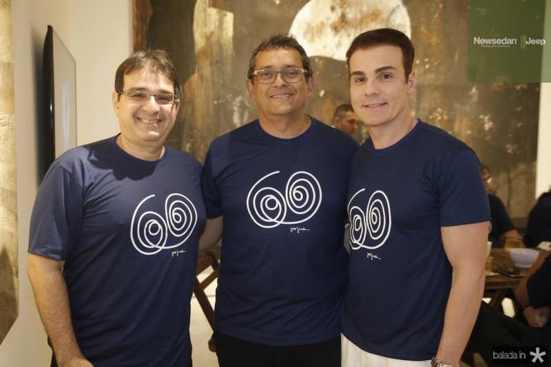 Jonatan Machado, Jose Guedes e Rodrigo Maia
