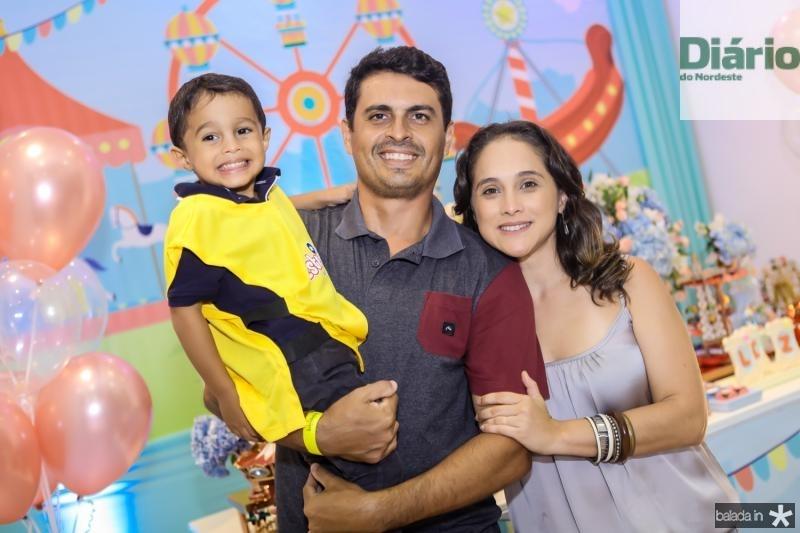 Bernardo, Geovane e Andrea Carvalho