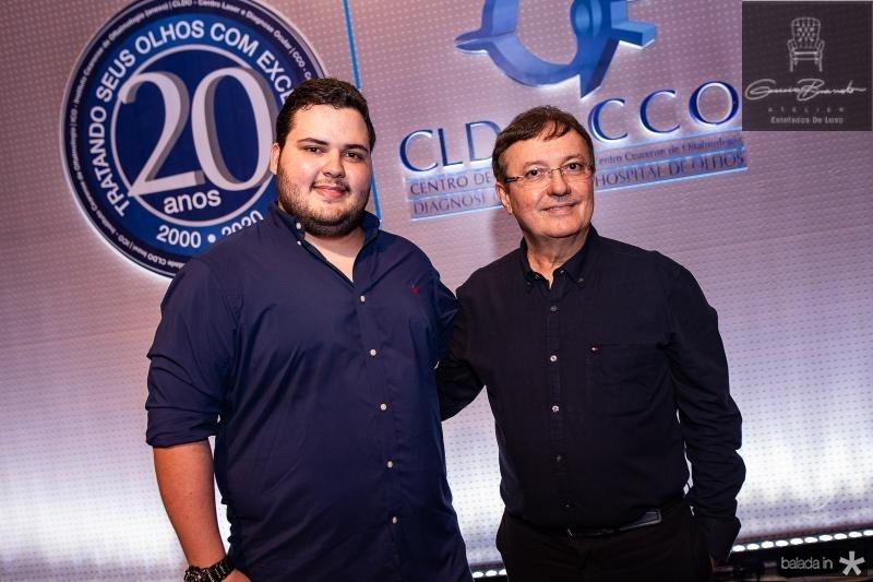 Antonio costa Filho e Diego Costa