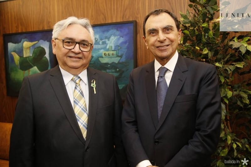 Paulo Albuquerque e Melhim Chalhub