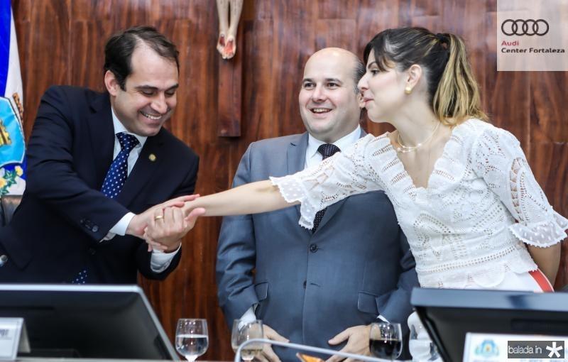 Salmito Filho, Roberto Claudio e Carol Bezerra