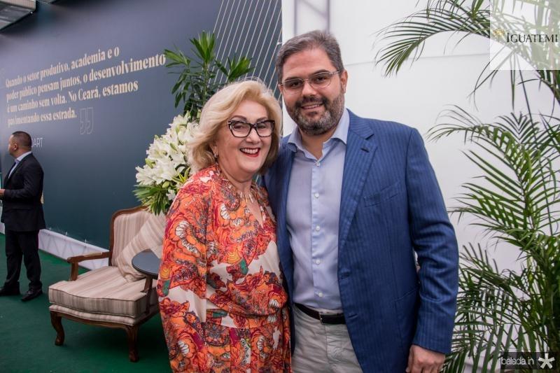 Socorro Franca e Edson Queiroz Neto