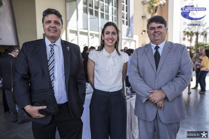 Marcos Oliveira, Alessandra Romana e Joao Batista Barros