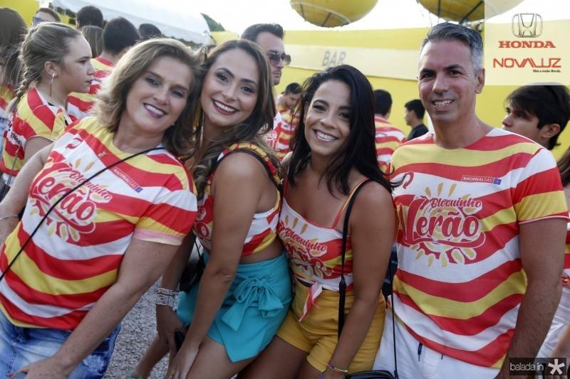 Lolo Moreira, Carol Oliveira, Luciana Passos e Yuri Veras