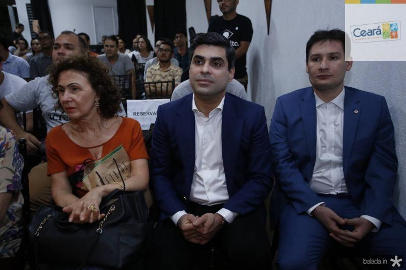 Luiza Serpa, Queiroz Filho e Marcos Sobreira