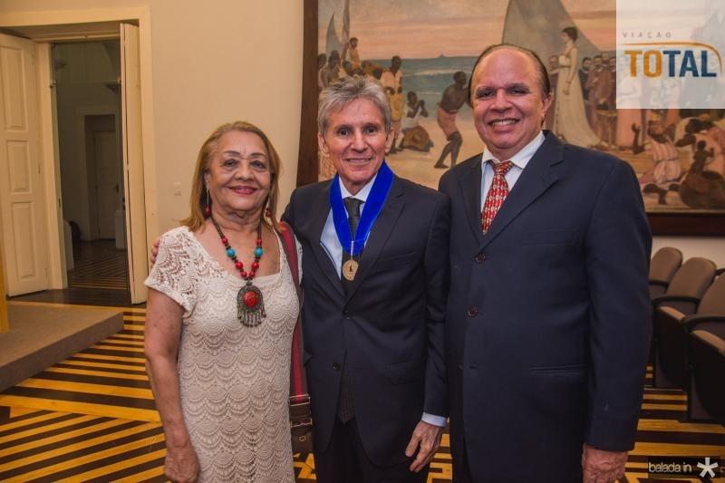 Perpetua Pinto, Padua Lopes e Olimpio Feitosa