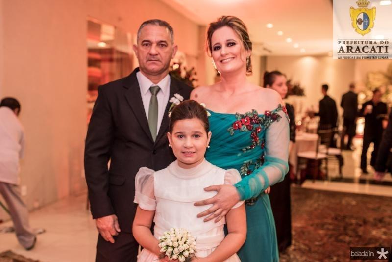 Marcilio Cesar Sousa, Yasmin Bernardo e Raquel Maria