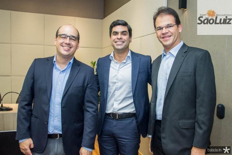 Arthur Ferraz, Queiroz Filho e Marcelo Pinheiro