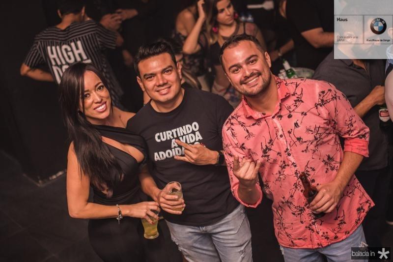 Aline Diniz, Robson Oliveira e Wesley Sousa