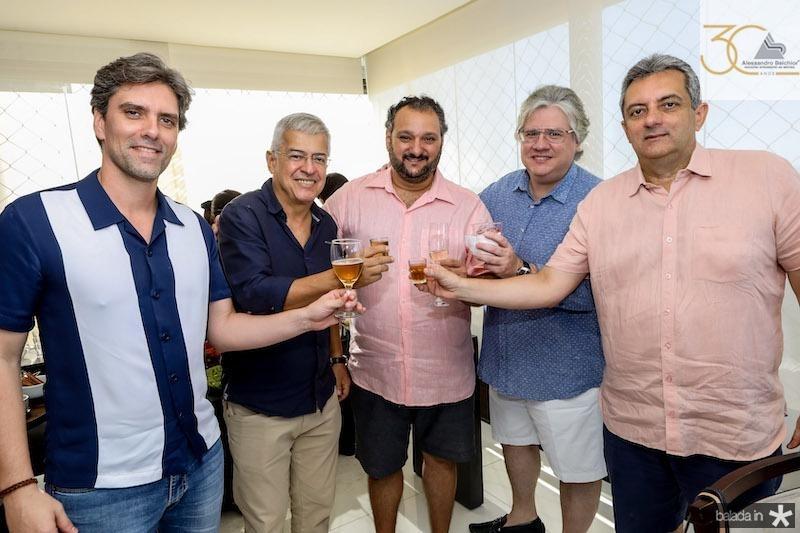 Rui do Ceará, Paulo César Norões, Patriolino Dias, Cássio Sales, e Guedes Neto