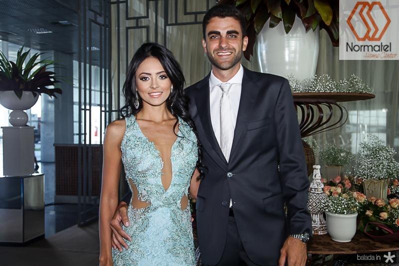 Tatiane Lopes e Gabriel Bertoude