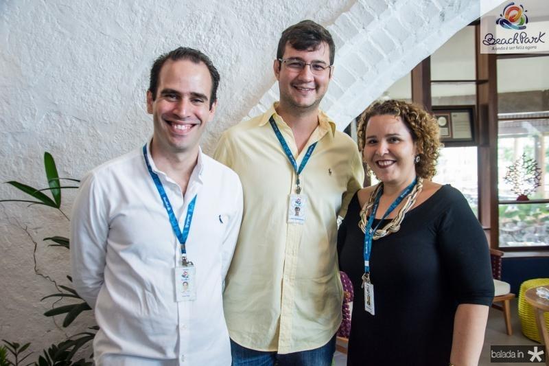 Ivan Dias, Luiz Vasconcelos e Milena Martins