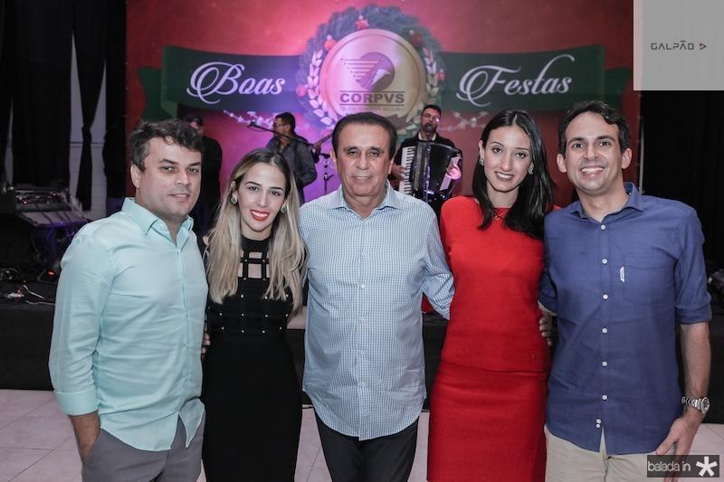 Marcos Freire, Ingrid, Gaudencio Lucena, Talita Carneiro e Gaudencio Lucena junior