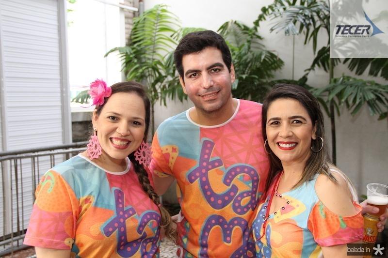 Grace Cardoso, Breno de Almeida e Cristina Lima