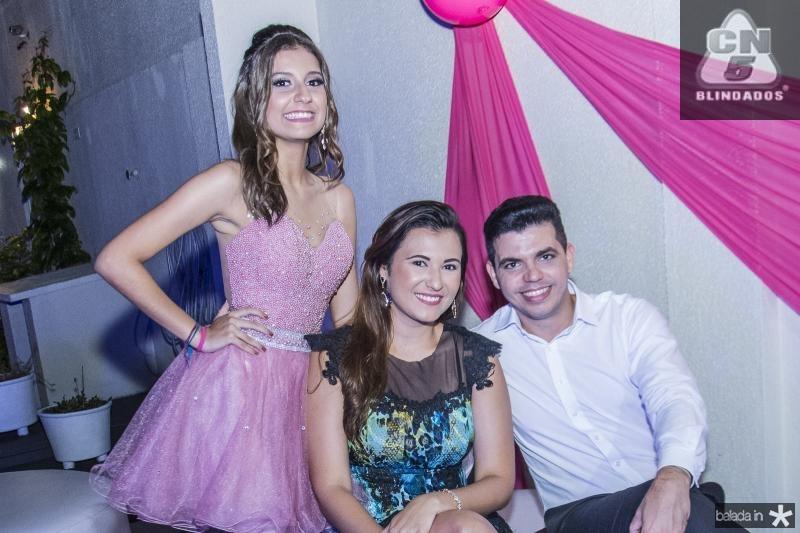 Mirella Salema, Kamila Assuncao e Luciano Freitas
