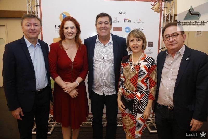 Mauricio Filizola, Enid Camara, Luiz Gastao, Circe Jane e Manuel Linhares