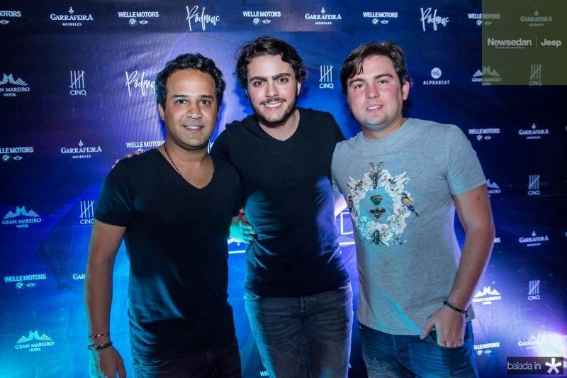 Elias Goca, Rodrigo Machado e Thiago Lavor