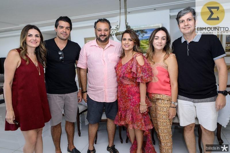 Andrea e Lívio Araripe, Patriolino e Renata Dias, Alessandra e Gerardo Albuquerque