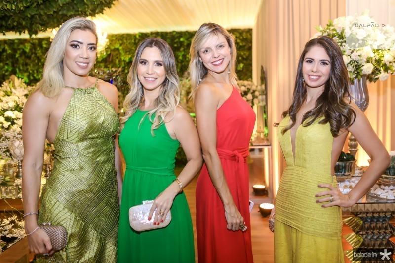 Luana Vidal, Paula Bezerra de Menezes, Elisa Miranda e Marcela Braga