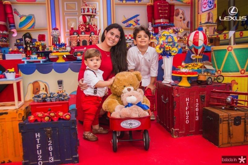 Lucas, Lara e Leozinho Albuquerque