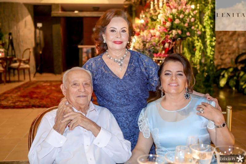 Adauto Bezerra, Marly Nogueira e Silvana Bezerra