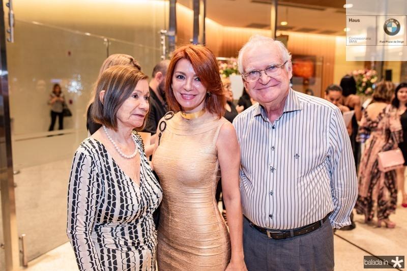 Maria Jose Machado, Suzana Farias e Hugo Machado
