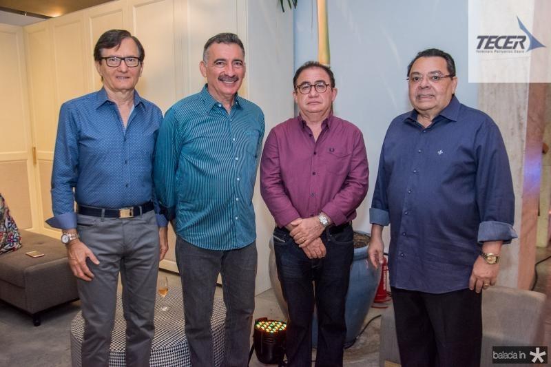 Helio Perdigao, Artur Bruno, Manoel Linheres e Gera Teixeira