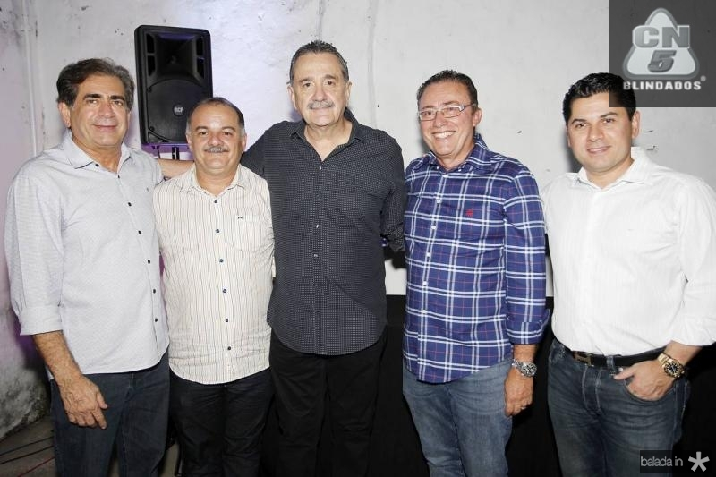 Zezinho Albuquerque, Vasco Monteiro, Bismarck Maia, Darlan Leite e Pompeu Vasconcelos