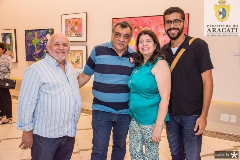 Antenor Lago, Eugenio Patiele, Socorro Silveira e Jocilene Junior
